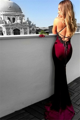 Lace Up Halter Applique Sleeveless Prom Dress UKes UK Mermaid Sexy Popular Elegant Evening Dress UKes UK_4