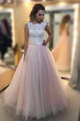 Sexy Sheer Jewel Lace Appliques Prom Dress UKes UK Sleeveless Evening Dress UKes UK with Ribbon_1