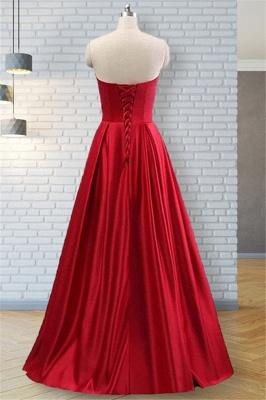 Strapless Beads Ruffles Prom Dress UKes UK Sleeveless Elegant Evening Dress UKes UK with Pocket_4