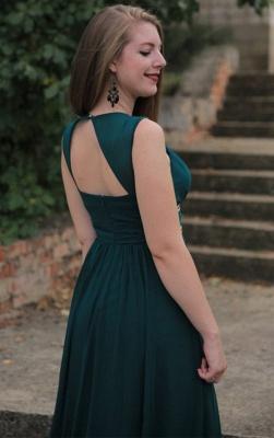 Sexy Elegant V-Neck Open Back Prom Dress UKes UK Sleeveless Elegant Evening Dress UKes UK with Sash_2