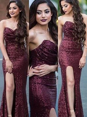 Burgundy Sequins Sweetheart Prom Dress UKes UK Mermaid Ruffles Elegant Evening Dress UKes UK_4