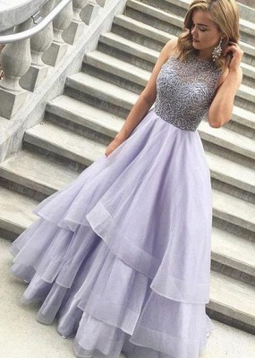 Sexy Crystal Sheer Prom Dress UKes UK Simple Sexy Sleeveless Evening Dress UKes UK_2