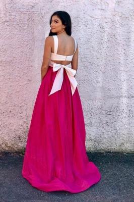 Straps Simple Sleeveless Prom Dress UKes UK Two Piece  Sexy Evening Dress UKes UK_2