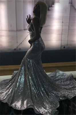 Spaghettistraps Sequins Sleeveless Prom Dress UKes UK Mermaid Open Back Evening Dress UKes UK_2
