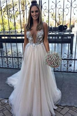 Sexy Flower Lace Appliques Elegant V-Neck Prom Dress UKes UK Sheer Sleeveless Evening Dress UKes UK with Crystal_1