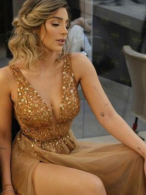 Sexy Halter Ruffles Prom Dress UKes UK Sleeveless Side Slit Elegant Evening Dress UKes UK Sexy_3