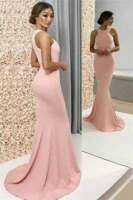 Sexy Halter Sleeveless Prom Dress UKes UK Sexy Popular Mermaid Evening Dress UKes UK_1