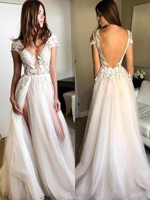 Sexy Pink Elegant V-Neck Prom Dress UKes UK Sleeveless Elegant Evening Dress UKes UK with Beads_1
