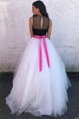 Sexy Sheer Jewel Ribbon Beads Prom Dress UKes UK Sleeveless Evening Dress UKes UK with Bowknot_2