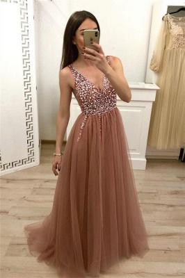 Crystal Straps Sequin Prom Dress UKes UK Lace-Up Side slit Mermaid Sleeveless Evening Dress UKes UK_1