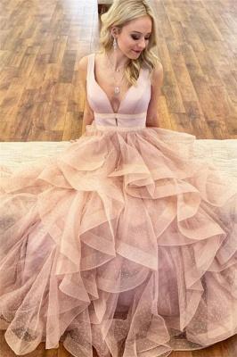 Sexy Straps Prom Dress UKes UK Sexy Ruffle Sleeveless Evening Dress UKes UK_1