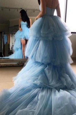 Sweetheart Overskirt Tired Prom Dress UKes UK Hi-Lo Sheer Sleeveless Evening Dress UKes UK_4