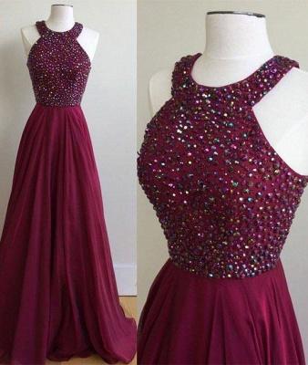 Sexy Crystal Jewel Prom Dress UKes UK Sheer Sleeveless Evening Dress UKes UK_2