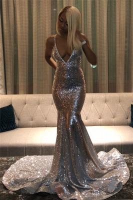 Spaghettistraps Sequins Sleeveless Prom Dress UKes UK Mermaid Open Back Evening Dress UKes UK_5