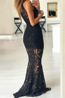 Lace Halter Lace Appliques Prom Dress UKes UK Mermaid Sleeveless Evening Dress UKes UK_2