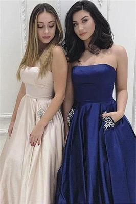 Strapless Beads Ruffles Prom Dress UKes UK Sleeveless Elegant Evening Dress UKes UK with Pocket_6