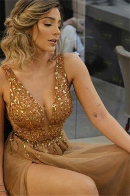 Sexy Halter Ruffles Prom Dress UKes UK Sleeveless Side Slit Elegant Evening Dress UKes UK Sexy_1