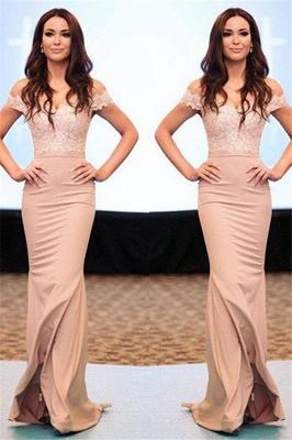 Lace Off-the-Shoulder Prom Dress UKes UK Sexy Mermaid Elegant Evening Dress UKes UK_1