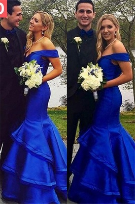 Sexy Off-the-Shoulder Ruffles Prom Dress UKes UK Mermaid Sleeveless Evening Dress UKes UK_6