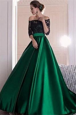 Sexy Black Lace Long Sleeves Prom Dress UKes UK Bateau Elegant Evening Dress UKes UK Sexy_2