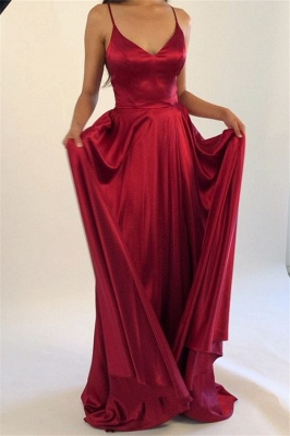 Spaghetti Strap Lace Up Prom Dress UKes UK Side Slit Sleeveless Evening Dress UKes UK_2