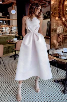 Sexy Ruffles Spaghetti Strap Open Back Prom Dress UKes UK Pink Open Back Elegant Evening Dress UKes UK_1