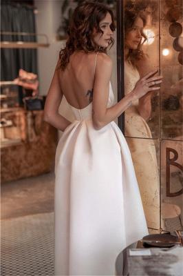 Sexy Ruffles Spaghetti Strap Open Back Prom Dress UKes UK Pink Open Back Elegant Evening Dress UKes UK_2