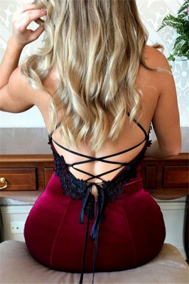Lace Up Halter Applique Sleeveless Prom Dress UKes UK Mermaid Sexy Popular Elegant Evening Dress UKes UK_2