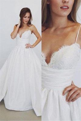 Sheer Lace Appliques Spaghetti-Strap Prom Dress UKes UK Simple Sleeveless Evening Dress UKes UK_2