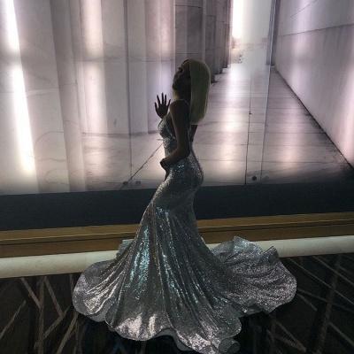 Spaghettistraps Sequins Sleeveless Prom Dress UKes UK Mermaid Open Back Evening Dress UKes UK_3