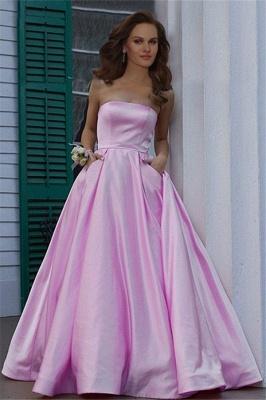 Burgundy Strapless Ruffles Prom Dress UKes UK Sleeveless Elegant Evening Dress UKes UK with Pocket_2
