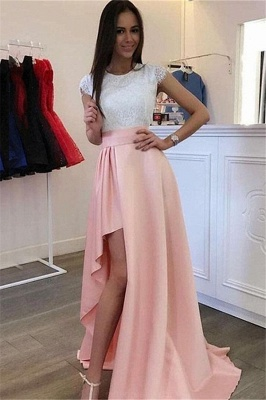 Sexy Jewel Applique Ruffles Prom Dress UKes UK Side Slit Sleeveless Elegant Evening Dress UKes UK_1