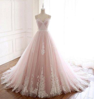Sexy Spaghetti-Strap Flower Lace Appliques Prom Dress UKes UK Ball Gown Ruffle Crystal Sleeveless Evening Dress UKes UK_2