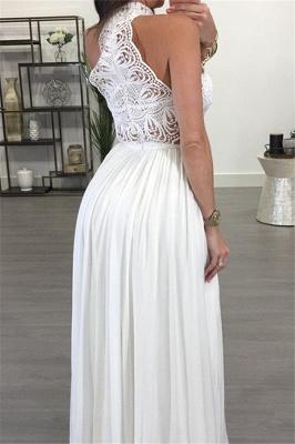 Lace Halter Sleeveless Ruffles Prom Dress UKes UK Popular Sexy Elegant Evening Dress UKes UK_3