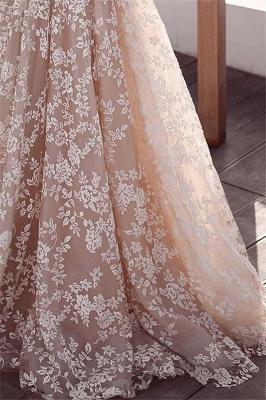 Elegant Lace Applique Wedding Dresses UK Long Sleeves Floral Bridal Gowns_3