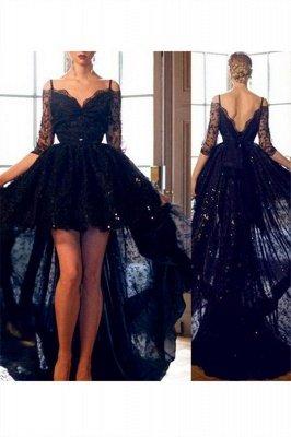 Red Spaghetti Strap Lace Up Prom Dress UKes UK Tulle Sleeveless  Side Slit Evening Dress UKes UK Sexy_5