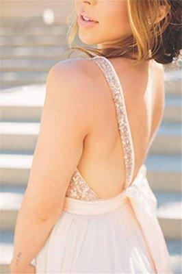 Sexy Elegant V-Neck Sequins Ruffles Prom Dress UKes UK Sleeveless Open Back Elegant Evening Dress UKes UK_3