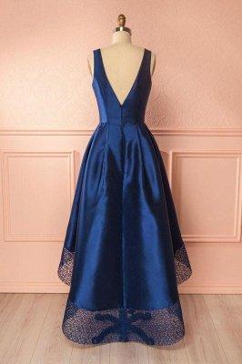 Sexy Thick Satin Straps Prom Dress UKes UK Hi-Lo Lace Sleeveless Evening Dress UKes UK_2