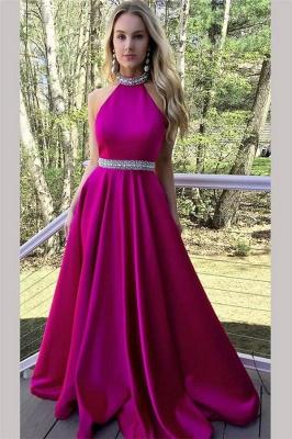 Crystal Halter Prom Dress UKes UK Ribbon Sleeveless Evening Dress UKes UK_1