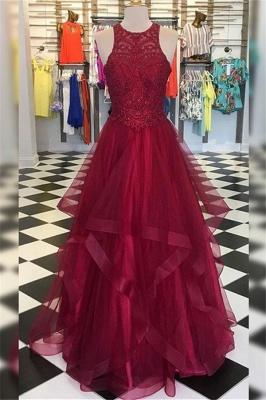 Sexy Halter Applique Ruffles Prom Dress UKes UK Sleeveless Elegant Evening Dress UKes UK with Beads_1