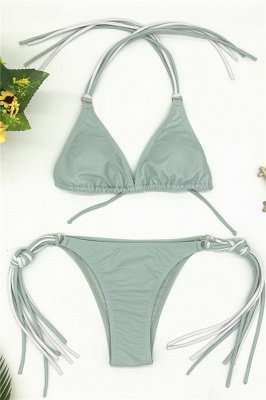 Triangle Pads Halter Straps Multicolor Two-piece Bikini Sets