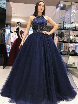 Sexy Halter Crystal Bow-knot Open Back Prom Dress UKes UK Ball Gown Sleeveless Elegant Evening Dress UKes UK_2