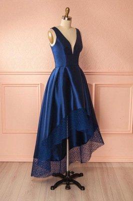 Sexy Thick Satin Straps Prom Dress UKes UK Hi-Lo Lace Sleeveless Evening Dress UKes UK_3