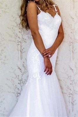 Appliques Straps Wedding Dresses UK | Backless Longsleeves Floral Bridal Gowns_2