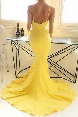 Charming yellow Spaghetti Strap Prom Dress UKes UK Sleeveless Mermaid Open Back Elegant Evening Dress UKes UK_3