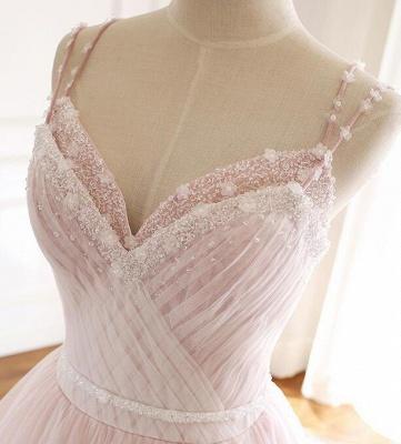 Sexy Spaghetti-Strap Flower Lace Appliques Prom Dress UKes UK Ball Gown Ruffle Crystal Sleeveless Evening Dress UKes UK_11