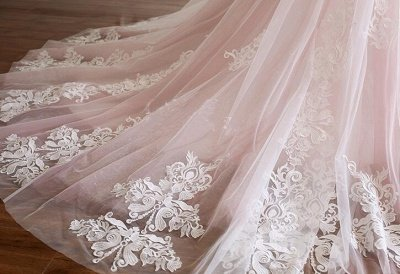 Sexy Spaghetti-Strap Flower Lace Appliques Prom Dress UKes UK Ball Gown Ruffle Crystal Sleeveless Evening Dress UKes UK_5