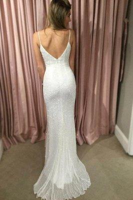 Sexy Sequin Straps Lace Appliques Prom Dress UKes UK Tulle Mermaid Sleeveless Evening Dress UKes UK_3