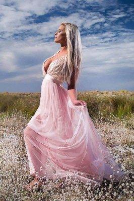 Sexy Sequins Halter Lace Appliques Prom Dress UKes UK Lace-Up Side slit Sleeveless Evening Dress UKes UK_2