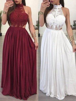 Lace Halter Sleeveless Ruffles Prom Dress UKes UK Popular Sexy Elegant Evening Dress UKes UK_1